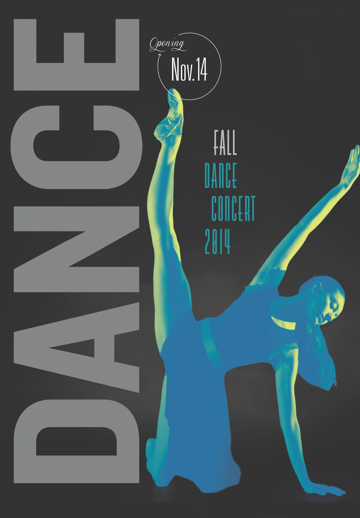 Fall Dance Concert 2014 Promotional Poster