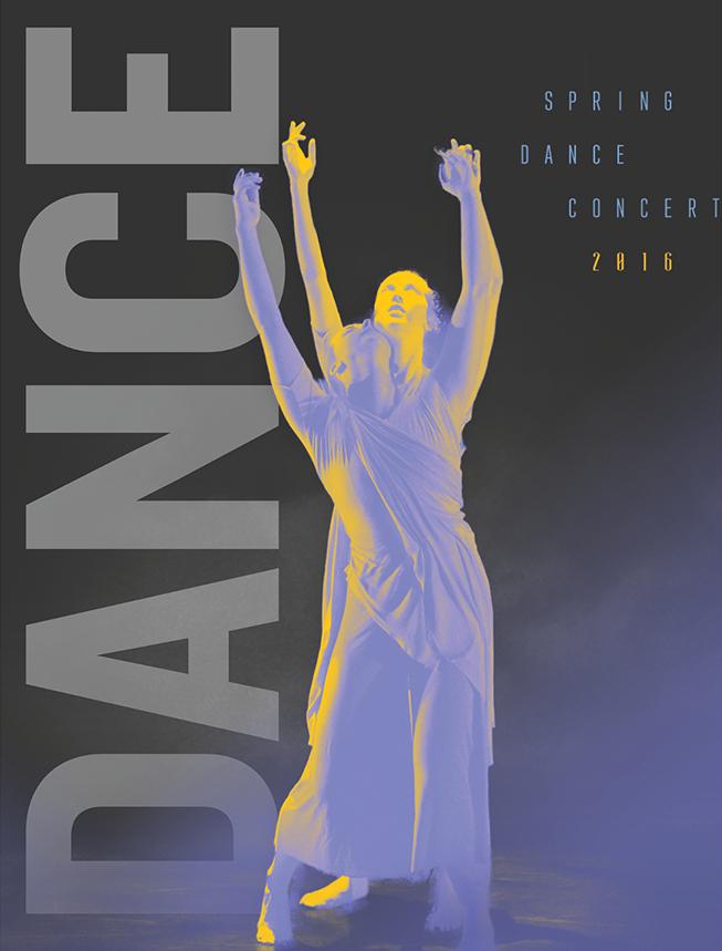 Spring Dance Concert 2016 Promotional Poster