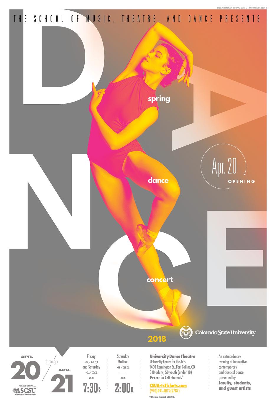 Spring Dance Concert 2018 Promotional Poster