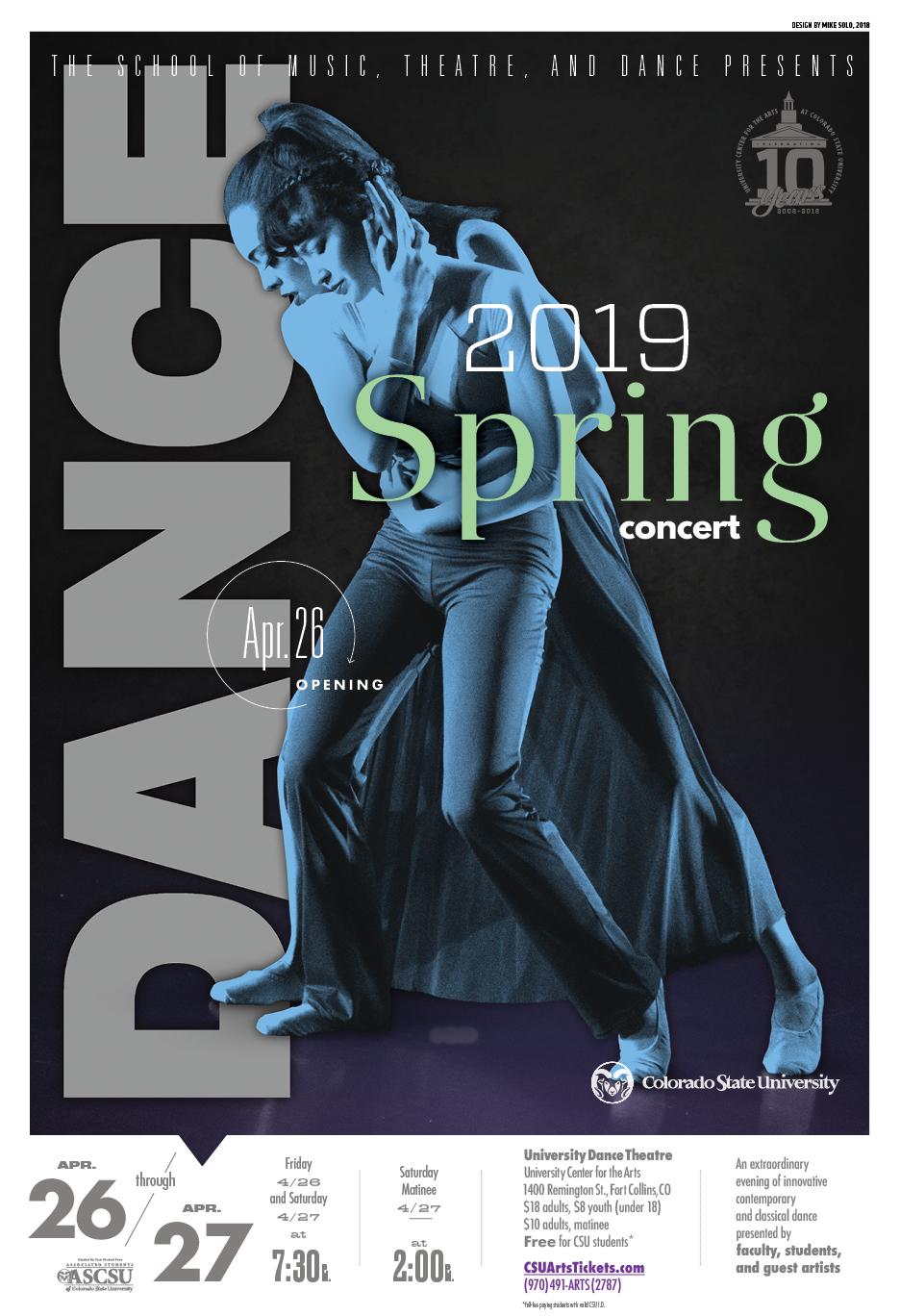 Spring Dance Concert 2019 Promotional Poster