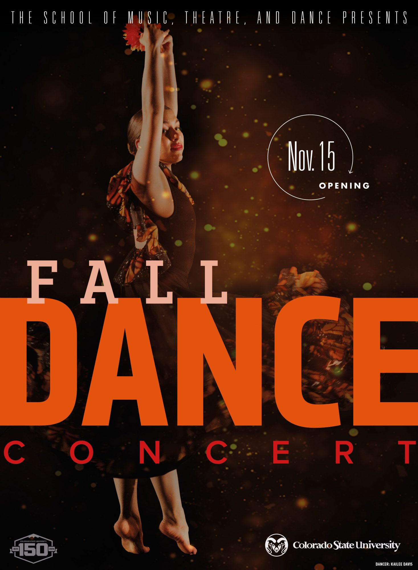 Fall Dance Concert 2019 promotional poster